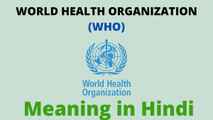 Read more about the article World Health Organization | World Health Organization (WHO) Meaning in Hindi