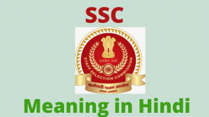 Read more about the article SSC Meaning in Hindi